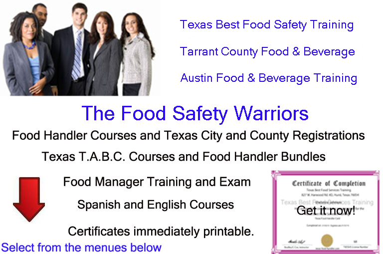 texas food handler front - texas best food services training