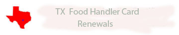 Food Handler renewals