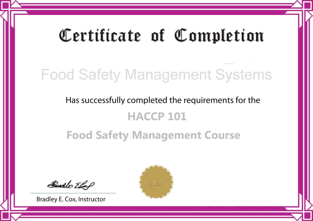 Haccp Training Instruction The Haccp University