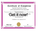 Texas Food Manager Training Food Manager Exam