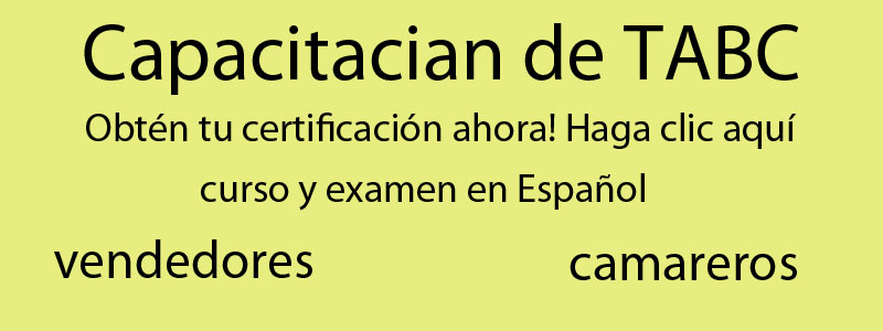 TABC Spanish Certification - Texas Best Food Services Training
